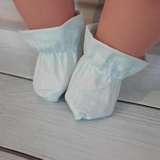 Голубые носочки для кукол Беби Борн. Мальчик.