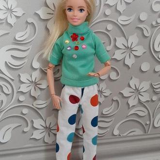 Штаны и футболка для кукол Барби. Набор одежды. Ручная работа!