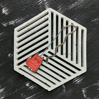 Закладка Миле Лисеня ручної роботи. Авторська закладка для книги руда Лисичка на металевій основі
