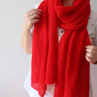 Мохеровый шарф-палантин 001