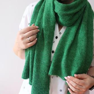 Мохеровый шарф-палантин 002