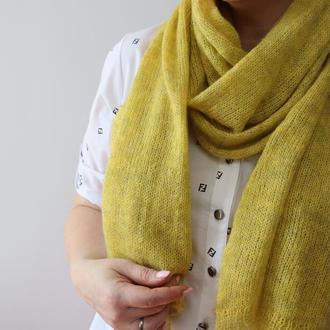 Мохеровый шарф-палантин 003