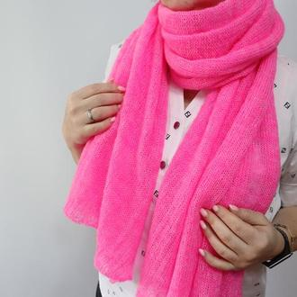 Мохеровый шарф-палантин 004
