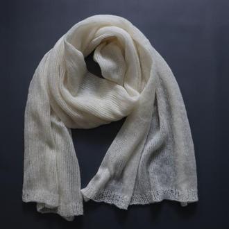 Мохеровый шарф-палантин 006