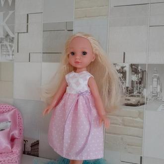 Розовое платье для кукол Паола Рейна.