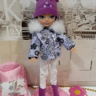 Одежда для кукол Монстер Хай. Набор. Курточка, штаны, сапоги, шапка.