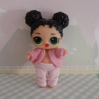 Одежда для кукол Лол сюрприз. Лосины и шубка.