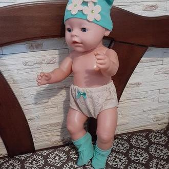 Трусики, носочки, шапка для кукол Беби Борн.