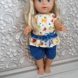 Летний набор одежды для кукол Беби Борн и старшей сестрички.