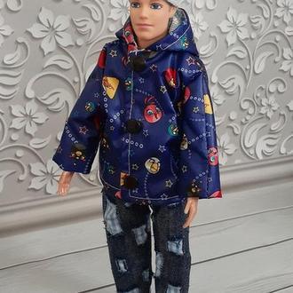 Набор одежды для кукол Кен. Курточка, шапка, джинсы.