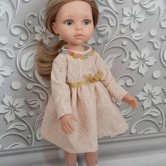 Красивое платье для кукол Паола Рейна 32 см