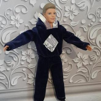 Спортивный теплый костюм для куклы Кен.