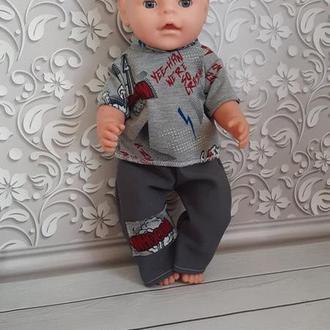 Одежда для кукол Беби Борн. Набор. Футболка и штаны.