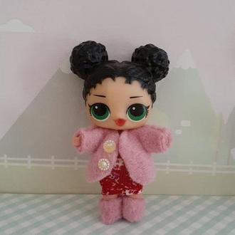 Шубка, платье и сапожки для кукол Лол сюрприз.