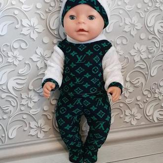 Набор одежды для кукол Беби Борн. Костюм трикотажный.