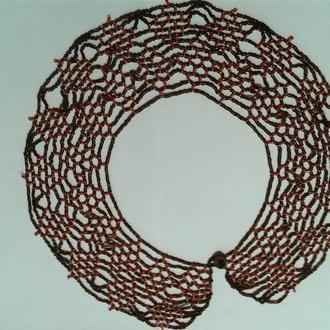 Ожерелье колье красного цвета