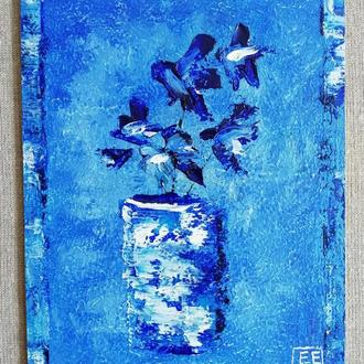 Абстрактный натюрморт маслом 15х20 см