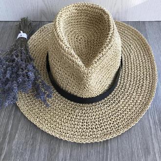 Шляпа из рафии Федора
