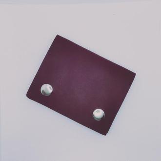Кожаный мини кошелёк