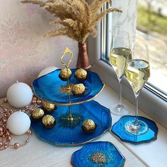 Ваза фруктовница конфетница этажерка подарок сувенир