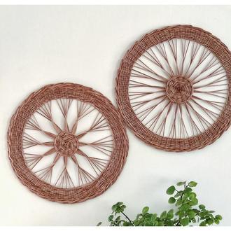 Набор из 2 плетёных настенных тарелок