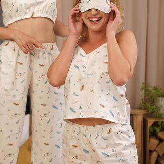 """Женская пижама """"Невесомость"""" с майкой и шортами на подарок девушке/жене/подруге"""