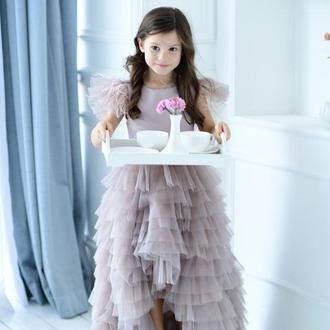 Пышное детское нарядное  платье Мисси, со шлейфом
