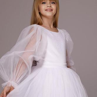 Пышное платье из фатина Микки бархат рукав