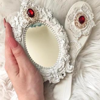 Набор старинное зеркало и расческа под винтаж