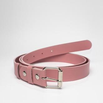 Ремень поясной Yozhic BL-1 Розовый Кожаный