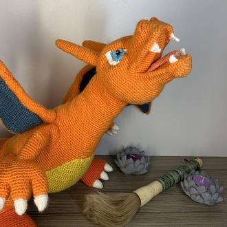 Вязаная игрушка Дракон Чиризард.