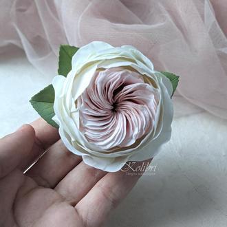 Очень красивая заколка для волос с розой