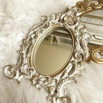 Настольное зеркало для макияжа винтажное