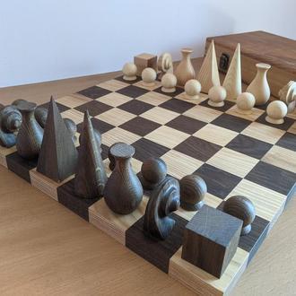 Шахматный набор Ман Рей (1920). Абстрактные шахматы