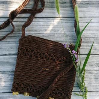 В'язана сумочка  - маленька сумочка через плече