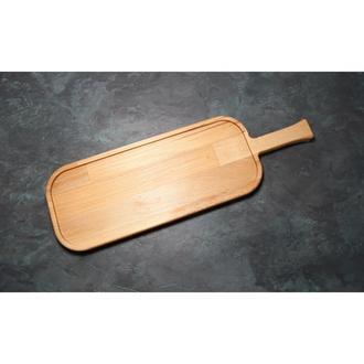 Сервировочная доска деревянная тарелка для подачи стейка шашлыка мясных блюд суши и нарезки 42х13 см