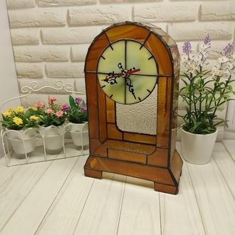 Настільний годинник зі скла, оригінальний декор для дому