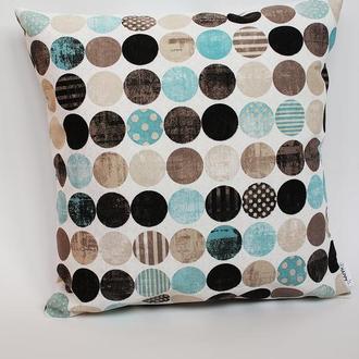Декоративная подушка геометрия, подушка голубая киев, декоративная подушка серая львов