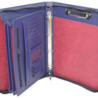 Папка-портфель мужская из эко кожи Portfolio синяя