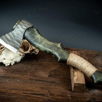 Топор ручной работы, кованый топор, томагавк, топорик, кована сокира ручної роботи