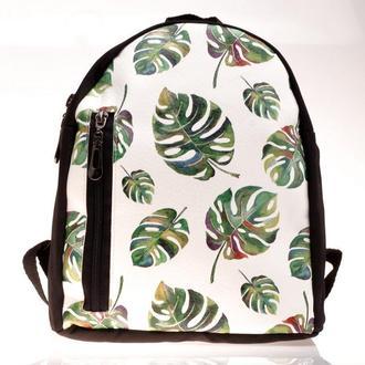 Рюкзак маленький с принтом