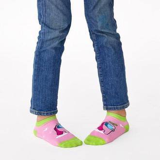 Детские носки следы Амонг розовый