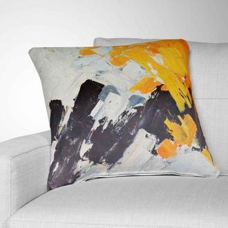 Стильная интерьерная подушка для дивана December Lights. Подушка для дивана. Декоративная подушка