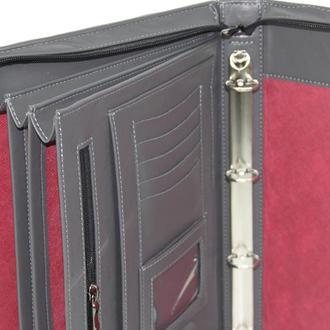Папка-портфель мужская из искусственной кожи Portfolio серая