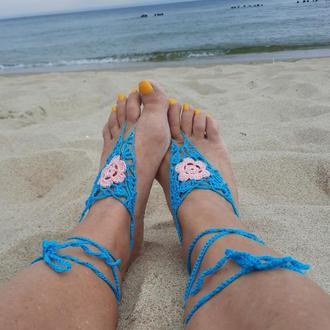 Слей браслет парный на ноги, декоративные украшения для пляжа