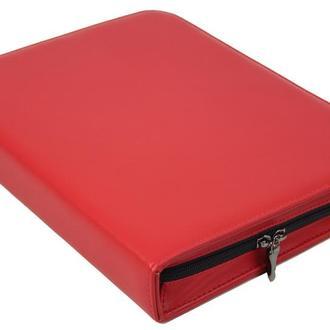 Папка женская для документов из эко кожи Portfolio красная
