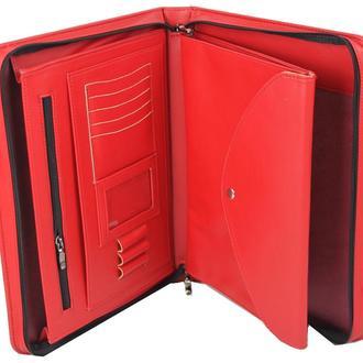 Женская папка для документов из эко кожи Portfolio Portbw06 красная