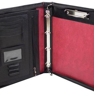 Деловая папка из натуральной кожи Portfolio Port1004 черная