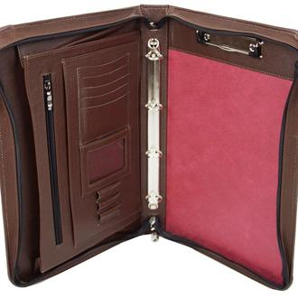 Кожаная деловая папка Portfolio Port1005 коричневая