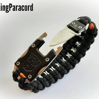Браслет с ножом плетения Механик + брелок в подарок